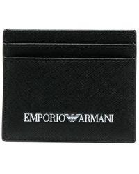 Emporio Armani - Portacarte con stampa - Lyst