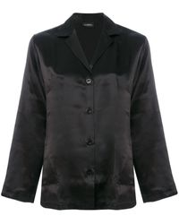 La Perla Silk Pajama Set - Black