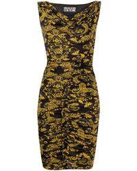 Versace Jeans Couture Baroque Print Dress - Black