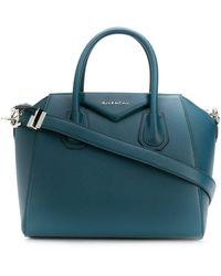 Givenchy Small Leather Antigona Bag - Blue