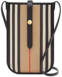 Burberry Cover per Iphone Icon Stripe - Nero