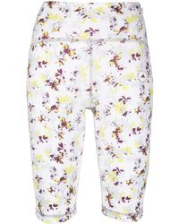adidas By Stella McCartney Floral-print Compression Shorts - White