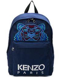 KENZO - Tiger Printed Backpack - Lyst