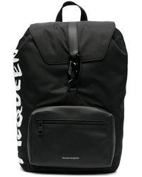 Alexander McQueen Logo Detail Backpack - Black
