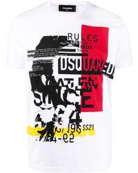 DSquared² Graphic-print T-shirt - White