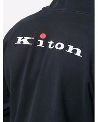Kiton Contrast-trim Tracksuit - Black