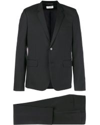 Saint Laurent Wool Blend Suit - Black
