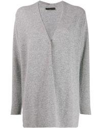 Fabiana Filippi Oversized V-neck Cardigan - Gray