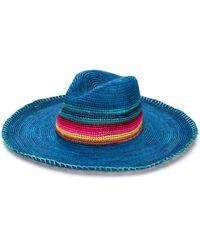 Paul Smith Crochet Straw Hat - Blue