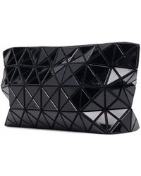 Bao Bao Issey Miyake Geometric Panel Clutch Bag - Black