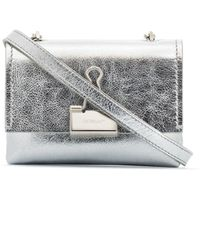 Off-White c/o Virgil Abloh Leather Crossbody Bag - Metallic