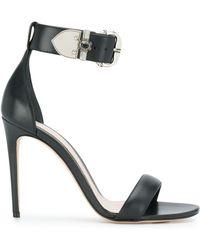 Alexander McQueen Ankle Strap Sandals - Black