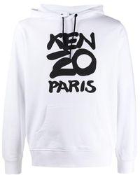 KENZO Cotton Logo Hoodie - White