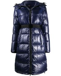 Peuterey Belted Puffer Coat - Blue