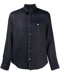 Emporio Armani Camicia a maniche lunghe - Blu