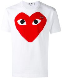 Play Comme des Garçons - T-shirt With Red Heart - Lyst