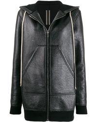 Rick Owens Drkshdw Long Hoodie Jacket - Black