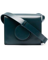 Lemaire Leather Camera Shoulder Bag - Blue
