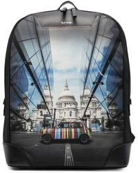 Paul Smith Logo Graphic Print Backpack - Black