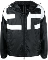 Emporio Armani Logo-print Lightweight Jacket - Black