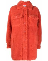 STAND Sabi Faux Fur Coat - Orange