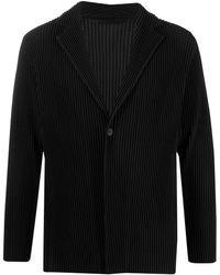Issey Miyake Plisse Blazer Jacket - Black