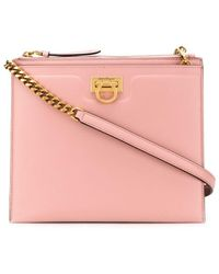 Ferragamo Trifolio Cross Body Bag - Pink