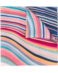 Paul Smith Wavy Stripes Scarf - Blue
