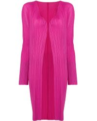 Pleats Please Issey Miyake - Fitted Cardi-coat - Lyst