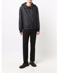 Ferragamo Gancini-pattern Hooded Jacket - Black