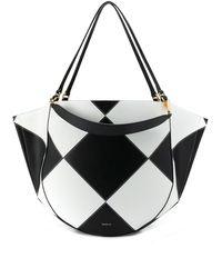 Wandler Mia Leather Tote Bag - Black