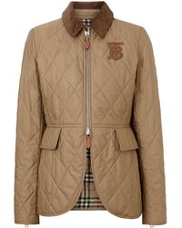 Burberry - Diamond-quilted Riding Jacket - Lyst