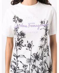 Ferragamo Logo Cotton T-shirt - White