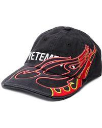 Vetements Fire Cotton Cap - Black