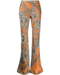 Chloé Paisley Print Flared Trousers - Orange