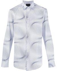 Emporio Armani Optical-print Shirt - White