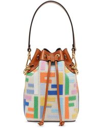 Fendi Mon Tresor Leather Bucket Bag - Brown