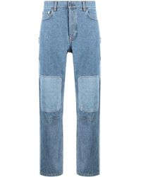 JW Anderson Patch-detail Paneled Jeans - Blue