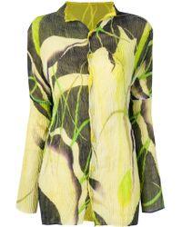 Issey Miyake - Printed Pleated Shirt - Lyst