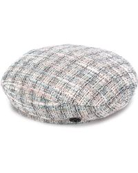 Maison Michel 'new Billy' Tweed Beret - Multicolour