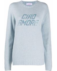 Giada Benincasa 'ciao Amore' Knitted Top - Blue