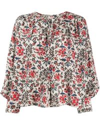 Isabel Marant Abstract Floral-print Blouse - White