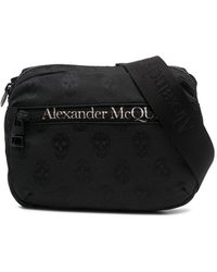 Alexander McQueen Marsupio con stampa - Nero