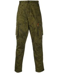 Givenchy Astral Printed Cargo Trousers - Green