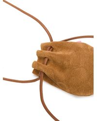 tubici Mykonos Leather Mini Bag - Brown