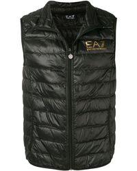 EA7 Padded Sleeveless Gilet - Black