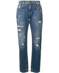 Dolce & Gabbana Jeans In Cotone - Blu
