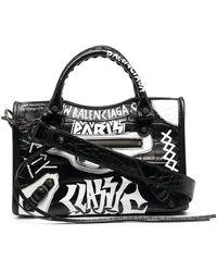 Balenciaga City Mini Leather Handbag - Black