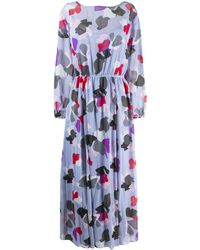Emporio Armani Printed Maxi Dress - Blue