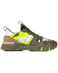 Valentino Garavani Garavani Camouflage Rockstud Plus Sneakers - Green